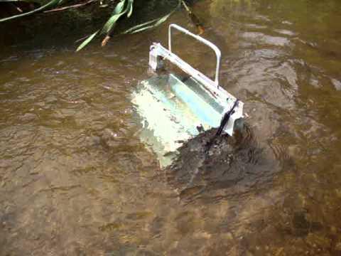 Глубинная гидродинамическая машина (видео 2) Underwater water wheel.