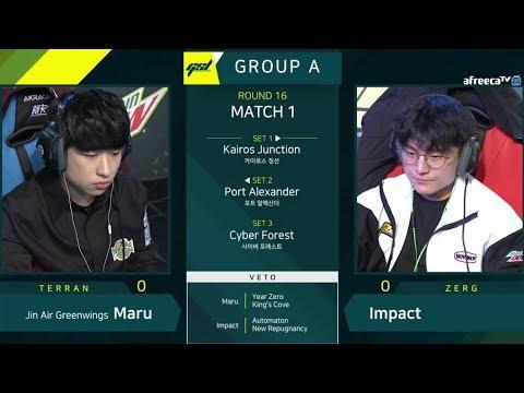 [2019 GSL S1] Ro.16 Group A Match1 Maru vs Impact
