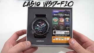 Casio WSD-F10 Android Wear Watch Unboxing and Size Comparisons