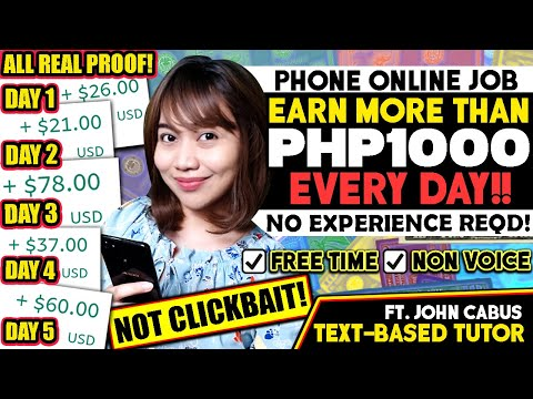 Earn MORE THAN $20/Day [P1000+] Using PHONE! FREE TIME ONLINE JOB, GET HIRED EASILY As Text-Based T.