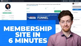 How to Build a Membership Using ClickFunnels in 8 Minutes - Tutorial