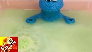 饼干怪兽 Lucky Dip 儿童 沐浴产品 套装 沐浴球 浴缸 变色球 炫酷 嫩绿色 展示 thumbnail