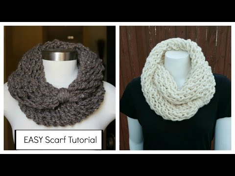 How to Knit an Infinity Scarf in a Couple of Hours, plus mee