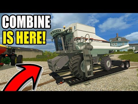 FARMING SIMULATOR 2017 | THE NEW COMBINE HAS ARRIVED ON THE FARM | IOWA EP #5