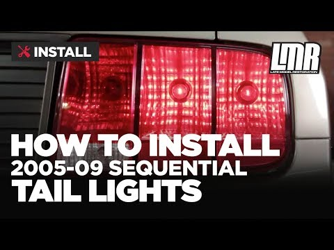Mustang Sequential Tail Lights Installation - Plug In Harness (05-09 S197)