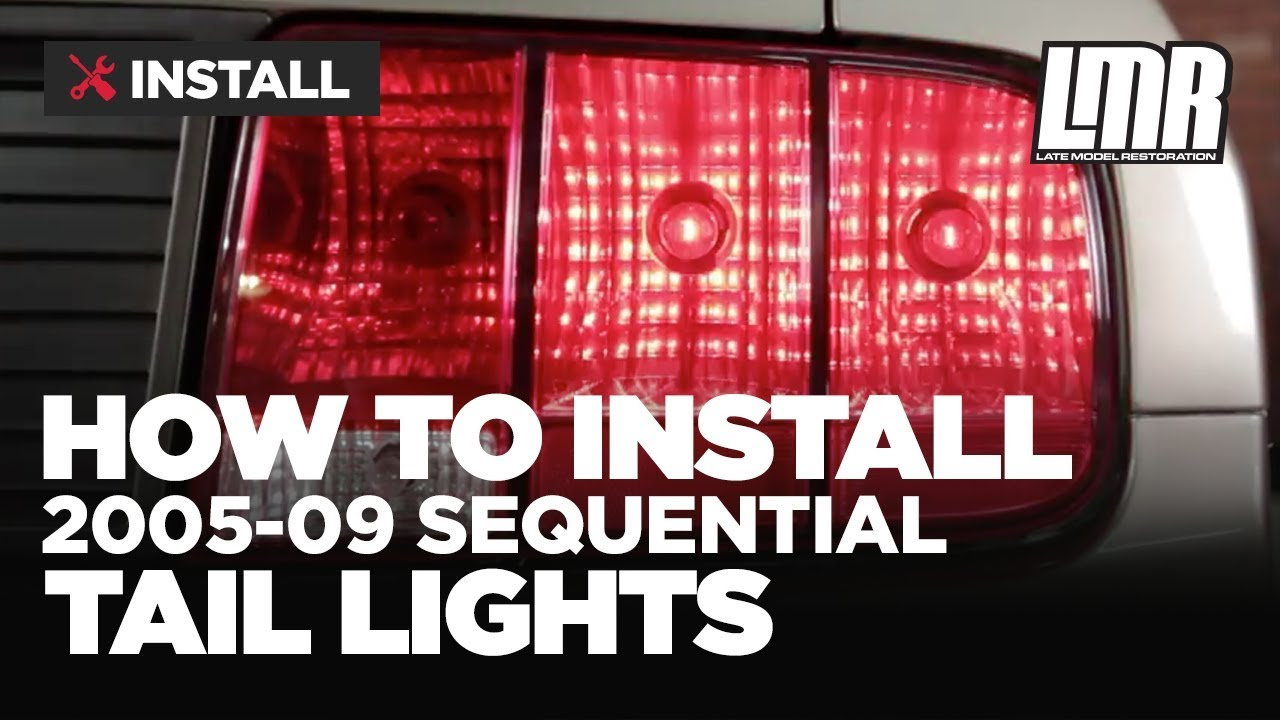 hight resolution of mustang sequential tail lights installation plug in harness 05 09 s197
