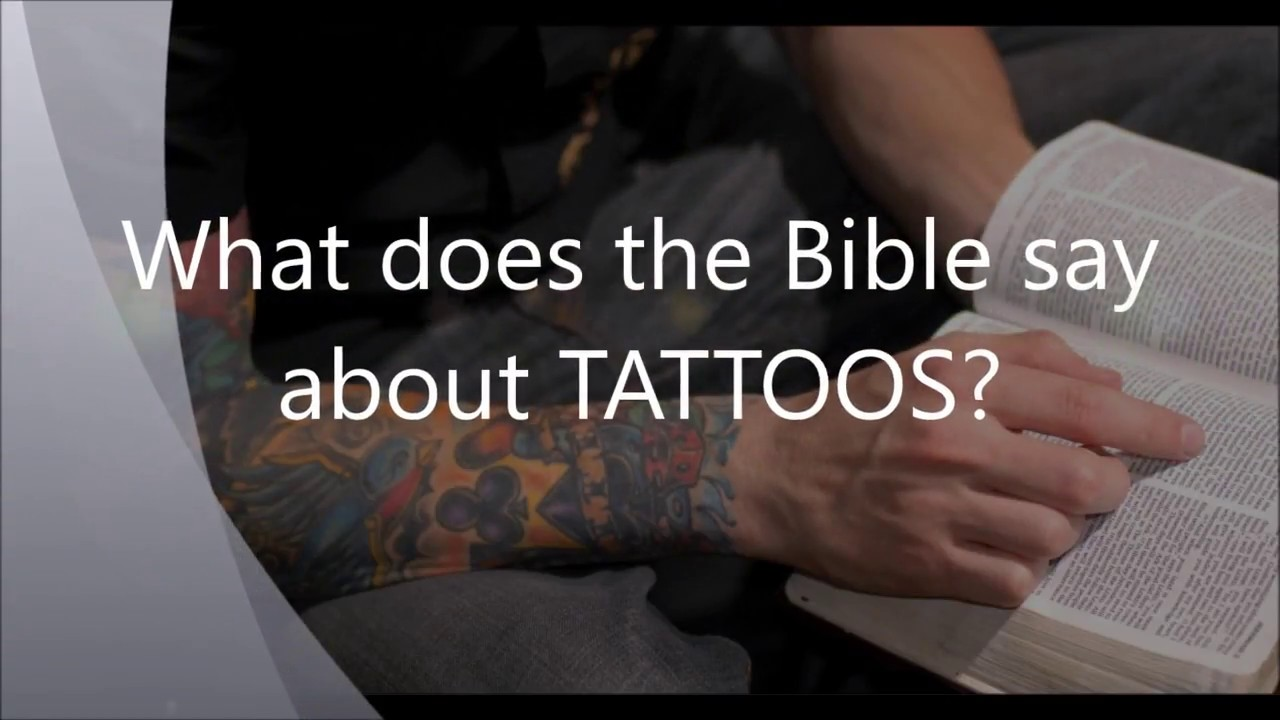 what does the bible say about tattoos youtube