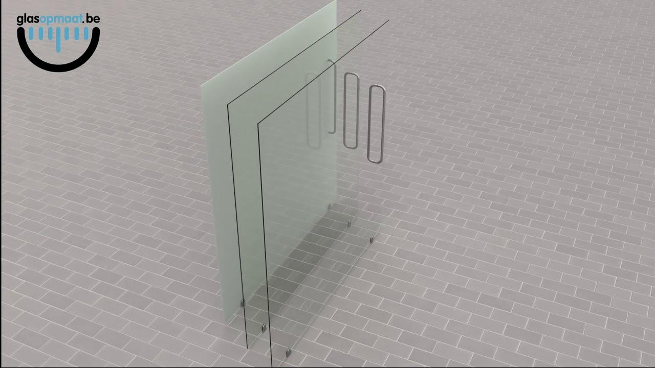 Nieuw Glazen legplanken op maat | Glasopmaat.be NE-89