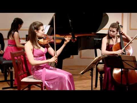 """CLAREMONT TRIO - Paul Schoenfield """"Cafe Music"""" - mvmt. 1 - Allegro"""