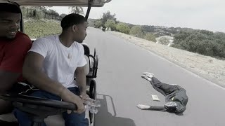 Lamelo Ball Jumps Off Golf Cart And Almost DIES
