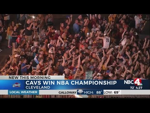 Ohio Stadium erupts after Cavs win