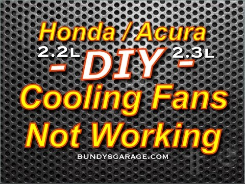 f22 f23 honda acura cooling fans not working 2 2l \u0026 2 3l f22 f23 Cooling Fan Temp Sensor with Relay Wiring Diagram f22 f23 honda acura cooling fans not working 2 2l \u0026 2 3l f22 f23 bundys garage youtube