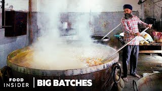 How The World's Largest Community Kitchen Feeds 100,000 Daily At Golden Temple, India | Big Batches