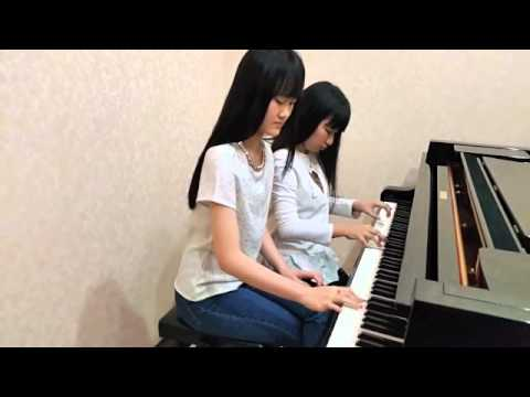 Si Patokaan piano version by Carine Natarina & Clarissa Aurelia