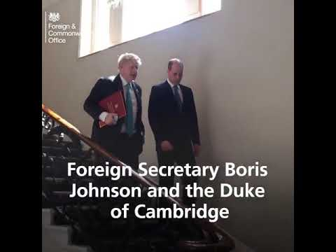 The Duke of Cambridge and Foreign Secretary BorisJohnson met African leaders to discuss ambitious pr