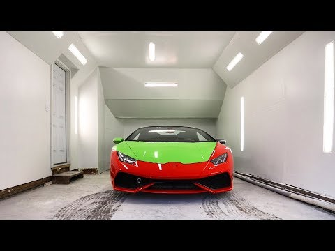 We Built The Ultimate DIY Paint Booth for the Lamborghini Huracan