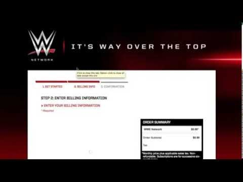 Signing up for the WWE Network! - YouTube