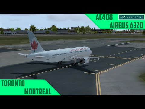 [P3D] D3/F1: Toronto - Montreal/AC408 | LoaP Day 3 Flight 1 [german/a320]