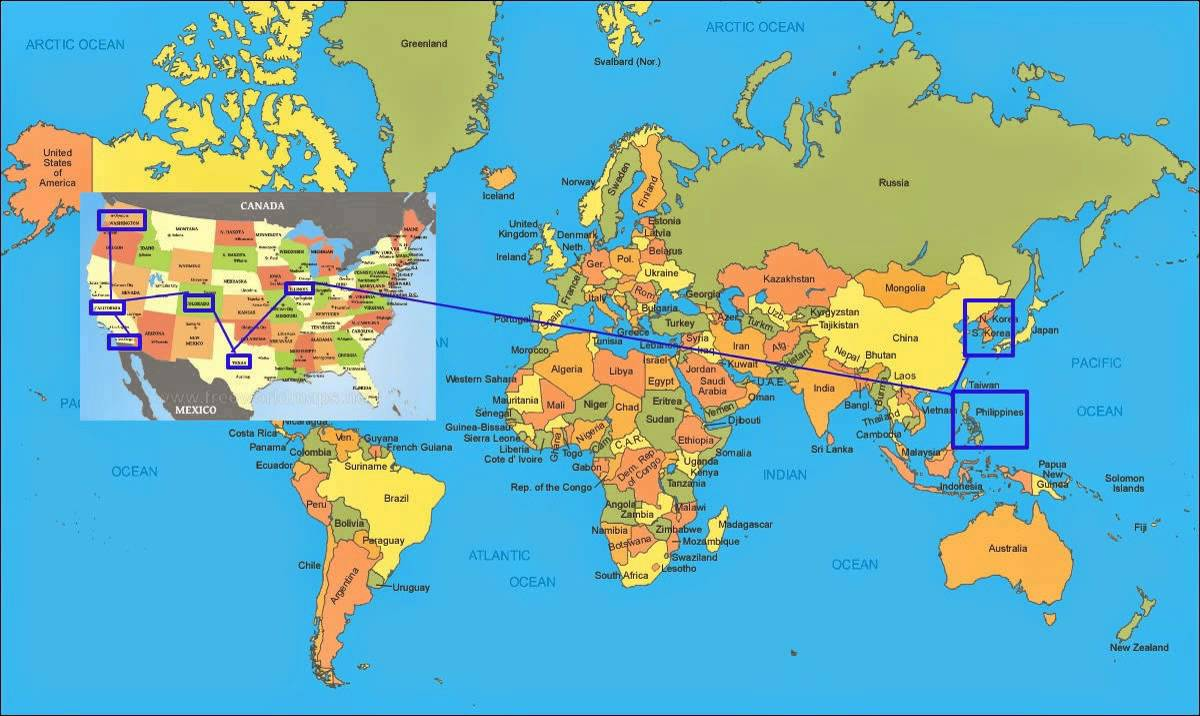 From Korea To The Philippines To Illinois To Texas To Colorado To - Map of egypt texas