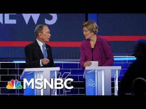 After Rough Exchange, Bloomberg, Warren Had Cordial Conversation During Commercial Break | MSNBC