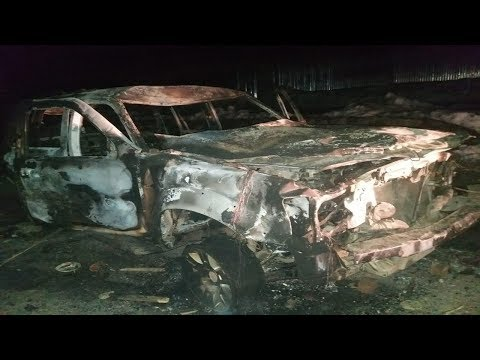 People's Conference leader Abdul Gani Vakil's vehicle set ablaze by locals in Rafiabad