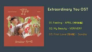 #extraordinaryyouost #어쩌다 발견한 하루ost #feeling please like and subscribe us...... track list ---------------- 01. feeling - april (에이프릴) 02. my beauty verive...