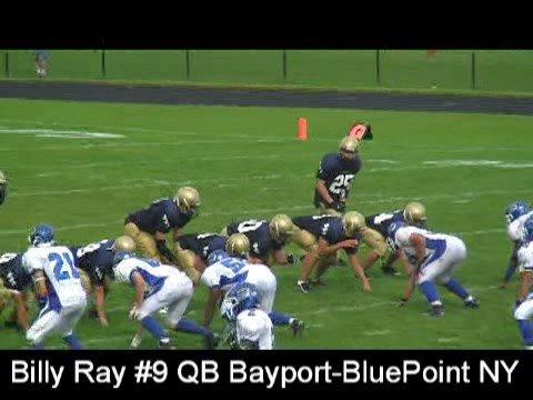 Billy Ray #9 QB - 1 - Bayport-BluePoint NY Phantom...