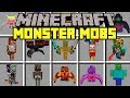 Minecraft MONSTER MOBS MOD! | SURVIVE AGAINST MONSTER MOB APOCALYPSE! | Modded Mini-Game!