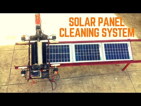Automatic Solar Panel Cleaning System | final year mechanica