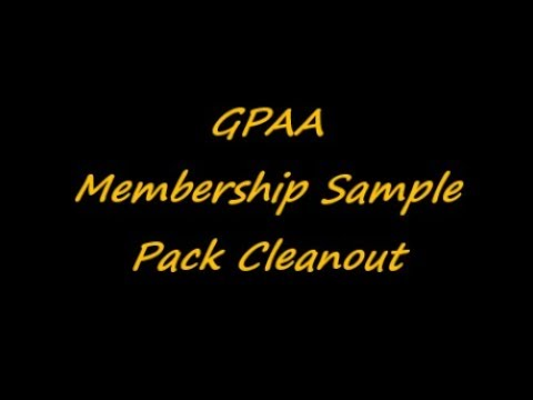 GPAA Membership Sample Pack Cleanout