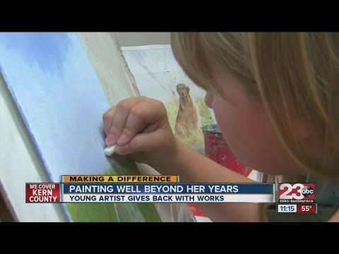 Talent young painter giving back through art