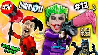 Lets Build & Play LEGO Dimensions #12: GLITCHY JOKER CHASE & Harley Quinn Steals a Slurpie Slushie! - FGTeeV