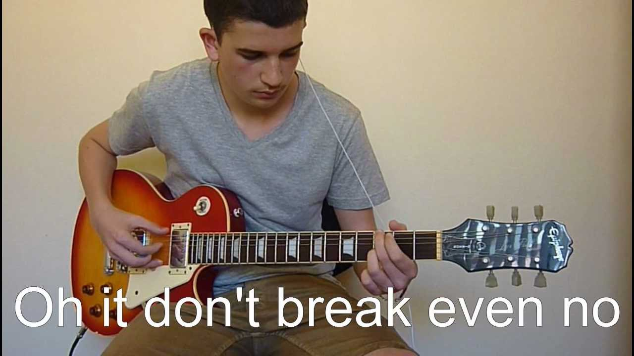 how to play breakeven on guitar