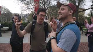 When #Triggered #SJWs ATTACK!  #Antifa Calls YAF Libertarian White Supremacist Madison, WI #14