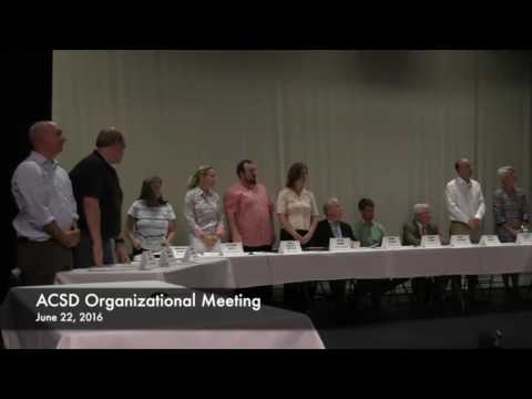 ACSD Organizational Meeting 6/22/16