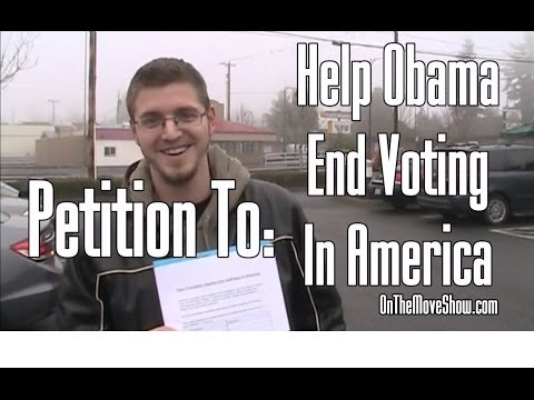 Petition Test: Americans Signing Away Their Right To Vote - OnTheMoveShow