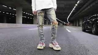 MOD - Обзор рваные мужские джинсы