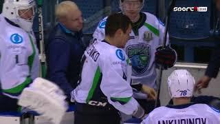 KHL 2017-2018 HC Slovan Bratislava - HC Jugra - Tomas Hrnka - Pavel Valentenko
