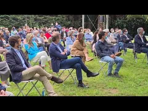El líder nacional del Partido Popular, Pablo Casado, estuvo presente, junto a Núñez Feijóo la presentación de los candidatos populares a las elecciones autonómicas del próximo 12 de julio (Vídeo: Pepe Ferrín).