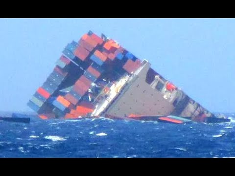 Top 10 Large Container Ships Crashing at Waves In Storm