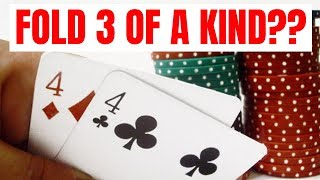 Folding a SET at the Micro Stakes? (Crazy Action)