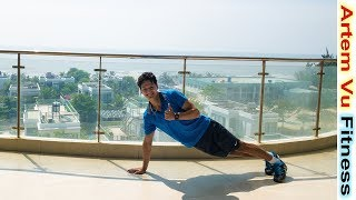 Chest and Abs Workout At home For Beginners 7 minutes ArtemFitness
