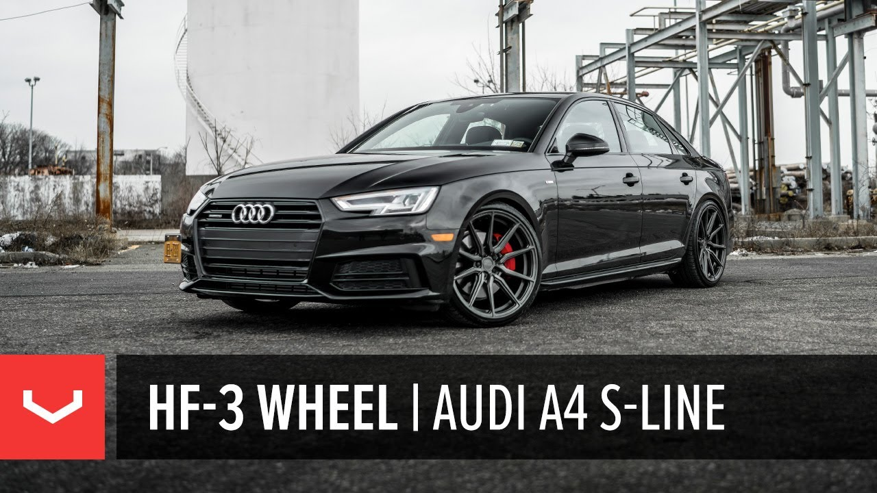 Vossen Hybrid Forged Hf 3 Wheel B9 Audi A4 S Line Youtube