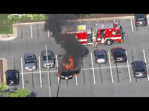 Rockville-Pike-car-fire-ignited-by-hand-sanitizer-and-lit-cigarette