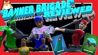"""Complete Honest Review: Fortnite """"BANNER BRIGADE"""" Skins + """"BANNER CAPE"""" Zurück Bling + COMBOS + MEHR!"""
