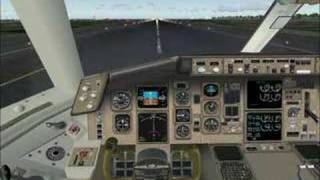 FS2004 Aeroflot Boeing 767-300 Landing in Rome, Italy