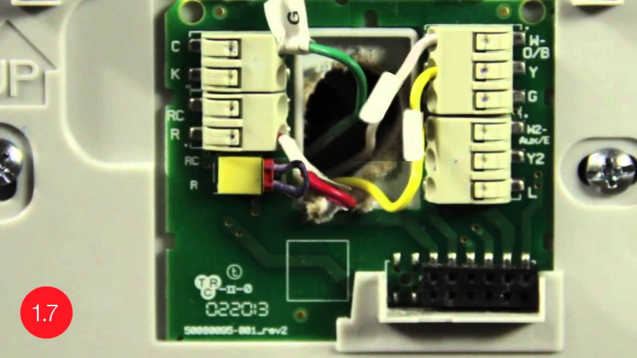 Substitute GWire for CWire  Install the Honeywell WiFi smart thermostat with this video