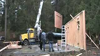 Pacific Homes Garage Package In Qualicum Bay, Bc - Large Wall Panels