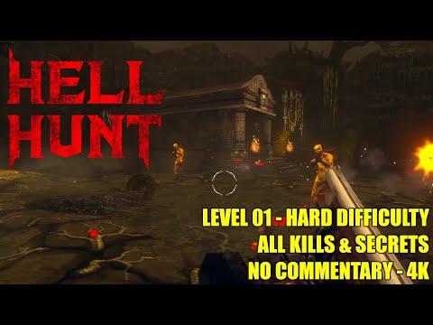 Dread Templar / Hell Hunt DEMO - Level 01 - All Secrets No Commentary 4K  