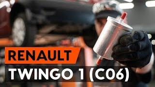 Hvordan skifte Drivstoffilter på RENAULT TWINGO I (C06_) - videoguide